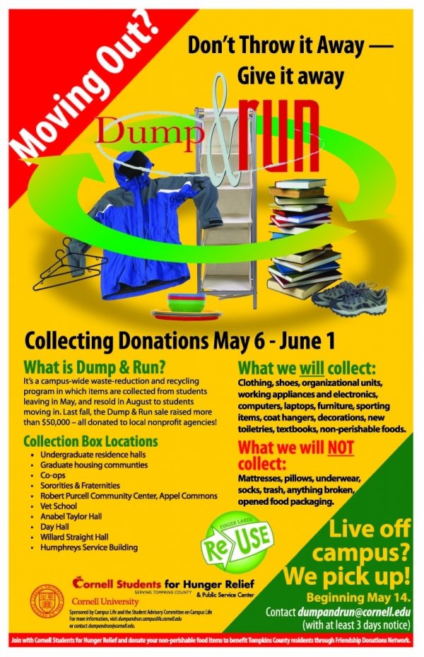 Dump & Run Collecting Donations to Benefit Local Nonprofits
